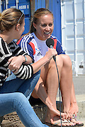 Caversham, Great Britain, GBR W2- Helen GLOVER, interviewed,  GB Rowing media day, 2013 World Cup Team Announcement  at the Redgrave Pinsent Rowing Lake. GB Rowing Training centre. Wednesday  05/06/2013  [Mandatory Credit. Peter Spurrier/Intersport Images]