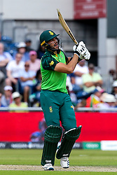 Aiden Markram of South Africa hits a six - Mandatory by-line: Robbie Stephenson/JMP - 06/07/2019 - CRICKET - Old Trafford - Manchester, England - Australia v South Africa - ICC Cricket World Cup 2019 - Group Stage
