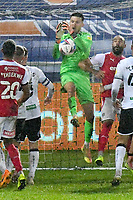 Football - 2020 / 2021 Sky Bet Championship - Swansea City vs Rotherham United - Liberty Stadium<br /> <br /> Freddie Woodman Swansea City  saves in the closing minutes<br /> in a match played without fans<br /> <br /> COLORSPORT/WINSTON BYNORTH
