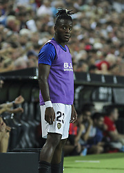 August 20, 2018 - Batshuayi of Valencia in action during the spanish league, La Liga, football match between ValenciaCF and Atletico de Madrid on August 20, 2018 at Mestalla stadium in Valencia, Spain. (Credit Image: © AFP7 via ZUMA Wire)