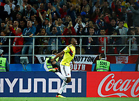 Yerry Mina (Colombia) celebrates after the goal of 1-1 scored<br /> Moscow 03-07-2018 Football FIFA World Cup Russia 2018 <br /> Colombia - England / Colombia - Inghilterra<br /> Foto Matteo Ciambelli/Insidefoto