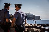 Carabinieri watching the operation