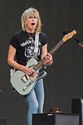 The Pretenders led by Chrissy Hyndes perform on the Other stage - The 2017 Glastonbury Festival, Worthy Farm. Glastonbury,