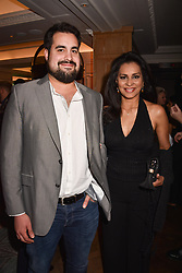 Lady Forsyth and her son in law Jonathan Joseph Forsyth at the Fortnum & Mason Food and Drink Awards, Fortnum & Mason Food and Drink Awards, London, England. 10 May 2018.