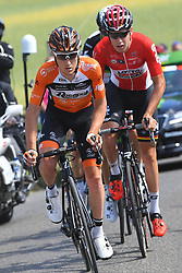 June 17, 2017 - Schaffhausen, Suisse - SCHAFFHAUSSEN, SWISS - JUNE 17 : WALLAYS Jelle of Lotto Soudal, VAN DER LIJKE Nick of Roompot - Nederlandse Loterij, VENTER Jaco of Dimension Data, TRENTIN Matteo of Quick-Step Floors during stage 8 of the Tour de Suisse cycling race, a stage of 100 kms between Schaffhaussen and Schaffhaussen on June 17, 2017 in Schaffhaussen, Swiss, 17/06/2017 (Credit Image: © Panoramic via ZUMA Press)