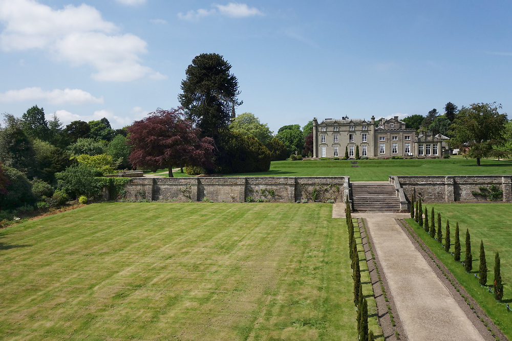 Elevated shot of Coleorton Hall, Leicestershire.