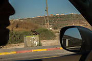 Israeli soldiers man a roadblock at a junction on road no. 55 in the west bank Israel / Palestine