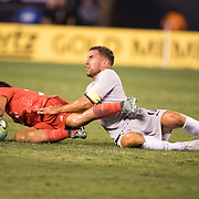 MEADOWLANDS, NEW JERSEY- August 7:  Kevin Strootman #6 of AS Roma fouls Dani Ceballos #24 of Real Madrid during the Real Madrid vs AS Roma International Champions Cup match at MetLife Stadium on August 7, 2018 in Meadowlands, New Jersey. (Photo by Tim Clayton/Corbis via Getty Images)