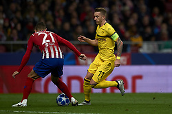 November 6, 2018 - Madrid, Spain - Marco Reus of Borussia Dortmund in action during the Group A match of the UEFA Champions League between AtleticoLucien Favre of Borussia Dortmund Madrid and Borussia Dortmund at Wanda Metropolitano Stadium, Madrid on November 07 of 2018. (Credit Image: © Jose Breton/NurPhoto via ZUMA Press)