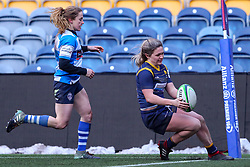 Hannah Bluck of Worcester Warriors Women scores a try - Mandatory by-line: Nick Browning/JMP - 09/01/2021 - RUGBY - Sixways Stadium - Worcester, England - Worcester Warriors Women v DMP Durham Sharks - Allianz Premier 15s