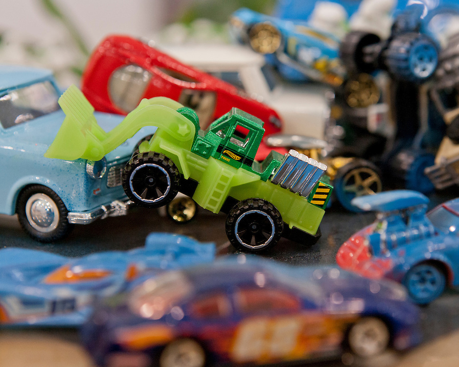 Close-up images of toys
