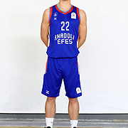 Anadolu Efes's Emir Sener during the 2020-2021 Garanti BBVA BGL Media Day at the Anadolu Efes Sports Hall on February 02, 2021 in İstanbul, Turkey. Photo by Aykut AKICI/TURKPIX