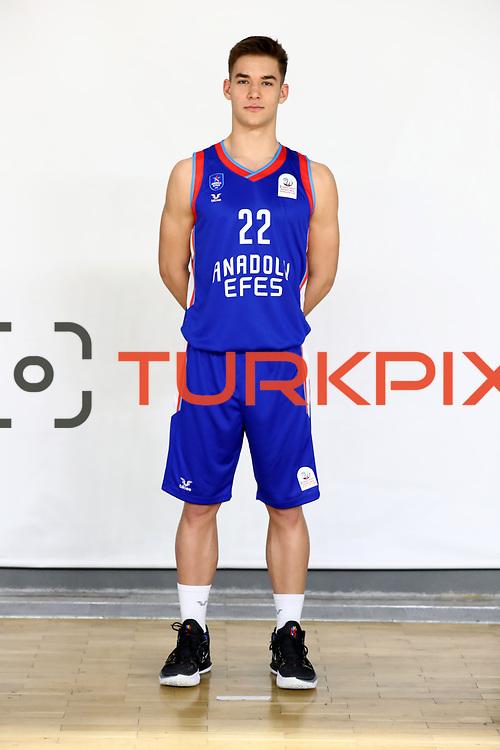 Anadolu Efes's Emir Sener during the 2020-2021 Garanti BBVA BGL Media Day at the Anadolu Efes Sports Hall on February 02, 2021 in İstanbul, Turkey. Photo by Aykut AKICI/TURKPIX