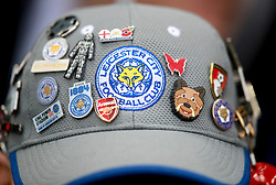 """A Leicester City fan during the Premier League match at the King Power Stadium, Leicester. PRESS ASSOCIATION Photo Picture date: Saturday December 2, 2017. See PA story SOCCER Leicester. Photo credit should read: Mike Egerton/PA Wire. RESTRICTIONS: EDITORIAL USE ONLY No use with unauthorised audio, video, data, fixture lists, club/league logos or """"live"""" services. Online in-match use limited to 75 images, no video emulation. No use in betting, games or single club/league/player publications."""