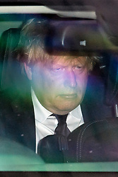 © Licensed to London News Pictures. 12/06/2017. London, UK. British foreign secretary BORIS JOHNSON is seen arriving at parliament in a car.  Over the weekend British prime minister Theresa May formed a new cabinet and continues discussions with the DUP in an attempt to form a new government. Photo credit: Ben Cawthra/LNP