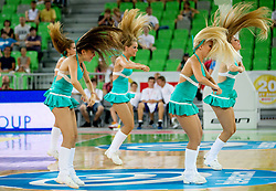 Dragon Ladies during friendly match before Eurobasket Lithuania 2011 between National teams of Slovenia and Lithuania, on August 24, 2011, in Arena Stozice, Ljubljana, Slovenia. Slovenia defeated Lithuania 88-66. (Photo by Vid Ponikvar / Sportida)