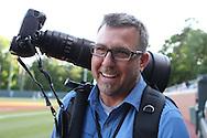 16 May 2016: UNC Athletics photographer Jeffrey Camarati. The University of North Carolina Tar Heels hosted the University of Notre Dame Fighting Irish in an NCAA Division I Men's baseball game at Boshamer Stadium in Chapel Hill, North Carolina.