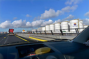 Nederrland, The Netherlands, Rotterdam, 3-3-2015Langs de A15 staan opslagtanks voor vloeistoffen. Botlek Tank terminal.FOTO: FLIP FRANSSEN/ HOLLANDSE HOOGTE