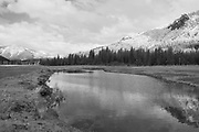 Grizzly Ridge, Heart K Pond And Cat Face Rock, Heart K Ranch, Genesee Valley, California Mountains, Sierra Nevada, Black and White Photography