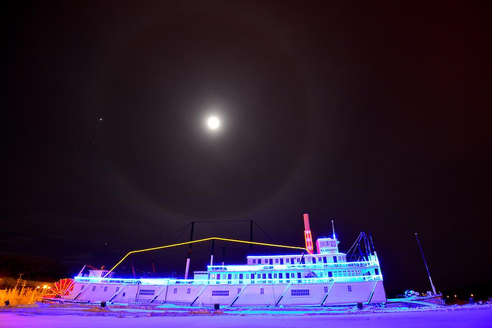 SS Klondike at night