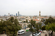 Israel, Jaffa Cityscape with Tel Aviv in the background