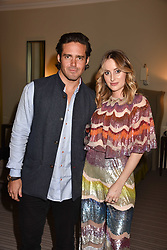 Rosie Fortescue and Spencer Matthews at the Rosie Fortescue Jewellery Launch, Brown's Hotel London England. 10 May 2017.<br /> Photo by Dominic O'Neill/SilverHub 0203 174 1069 sales@silverhubmedia.com