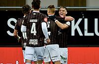 Fotball , 19. september 2021 , Mjøndalen - Sandefjord 1-1<br /> <br /> Jubel for scoring , Markus Nakkim , MIF