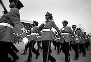 Ghanaian troops parade during celebrations held at the Independence Square in Accra, Ghana, on Tuesday Mar 6, 2007. Celebrations were held here and elsewhere in the country on the occasion of Ghana's 50th anniversary of independence from Britain.