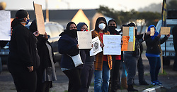 SOUTH AFRICA - Cape Town - 6 July  2020  - Parents picketing outside Merrydale Primary in Mitchell's Plain.They are against the returning of grade R and Grade 11 pupils to school during the Covid-19 lockdown because of safety. Picture: Phando Jikelo/African News Agency(ANA)