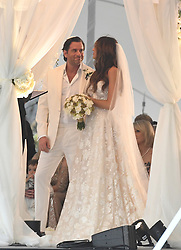 EXCLUSIVE: *NO WEB UNTIL 1230PM GMT 9TH APRIL* Laura Zilli marries Nick Gold in a lavish wedding on the beach in Miami. The beautiful bride was walked down the aisle by her father, Chef Aldo Zilli, and best friend Samantha Rowley acted as Maid of Honor for the festivities. 07 Apr 2018 Pictured: Laura Zilli Wedding. Photo credit: MEGA TheMegaAgency.com +1 888 505 6342