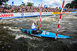 Stoecklin Lena (GER) competes in Finals during Day 2 of 2018 ECA Canoe Slalom European Championships, on June 2nd, 2018 in Troja , Prague, Czech Republic. Photo by Grega Valancic / Sportida