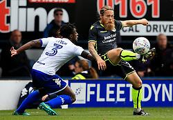 Stuart Sinclair of Bristol Rovers takes on Greg Leigh of Bury - Mandatory by-line: Matt McNulty/JMP - 19/08/2017 - FOOTBALL - Gigg Lane - Bury, England - Bury v Bristol Rovers - Sky Bet League One