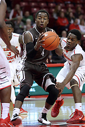 29 December 2014:   Thomas Jackson, Paris Lee during an NCAA non-conference interdivisional exhibition game between the Quincy University Hawks and the Illinois State University Redbirds at Redbird Arena in Normal Illinois.