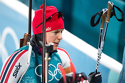 February 12, 2018 - Pyeongchang, SOUTH KOREA - 180212  SynnÂ¿ve Solemdal of Norway after the Women's Biathlon 10km Pursuit during day three of the 2018 Winter Olympics on February 12, 2018 in Pyeongchang..Photo: Jon Olav Nesvold / BILDBYRN / kod JE / 160156 (Credit Image: © Jon Olav Nesvold/Bildbyran via ZUMA Press)