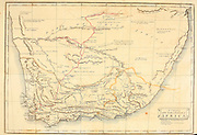 A chart of the Southern extremity of Africa from the book A voyage to Cochinchina, in the years 1792 and 1793. To which is annexed an account of a journey made in the years 1801 and 1802, to the residence of the chief of the Booshuana nation by Sir John Barrow, 1764-1848 Published in London in 1806 by T. Cadell and W. Davies