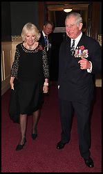 November 12, 2016 - London, United Kingdom - Image ©Licensed to i-Images Picture Agency. 12/11/2016. London, United Kingdom. Royal Festival of Remembrance. ...The Prince of Wales and the Duchess of Cornwall arrive at the annual Royal Festival of Remembrance at the Royal Albert Hall in London...Picture by  i-Images / Pool (Credit Image: © i-Images via ZUMA Wire)