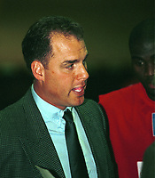 Basket, BK mot Ulriken, seriekamp Kongsberghallen 22. januar 2000. David Swan, Ulrikens trener. Foto: Digitalsport