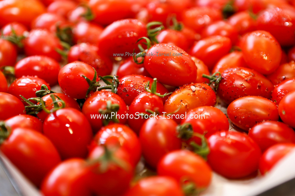 Cherry tomatoes. This image has a restriction for licensing in Israel
