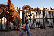 Cowboy on the ranch outside of Santa Fe New Mexico.