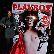 NLD/Amsterdam/20101008 - Onthulling Playboy cover Sanne Kraaijkamp, Dorien Rose Duinker en Merel Trip