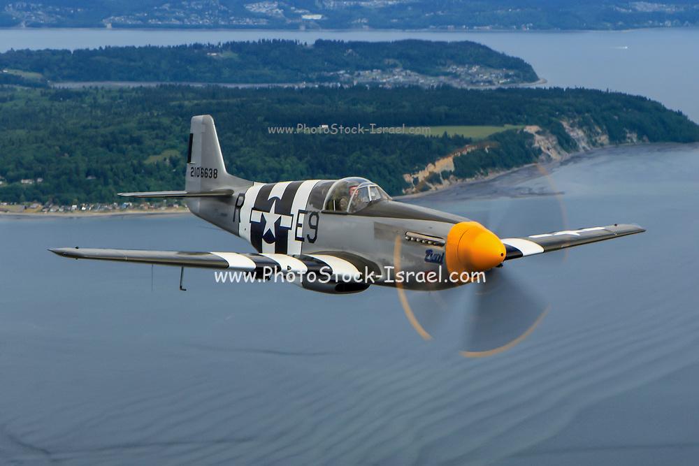 North American P-51B Mustang in flight. Photographed at Royal International Air Tattoo (RIAT)