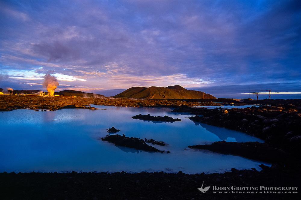 Iceland. The Blue Lagoon geothermal spa in Grindavik.