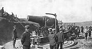 Russo-Japanese War 1904-1905:  Japanese howitzer battery before Port Arthur, September 1904