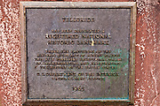 National Historic  Landmark plaque, Telluride, Colorado