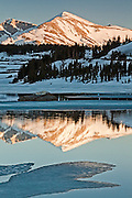 Evening - Mt. May as seen in Tioga Lake.  Yosemite, CA.  USA