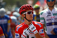 Podium, Michal Kwiatkowski (POL - Team Sky) red jersey during the UCI World Tour, Tour of Spain (Vuelta) 2018, Stage 3, Mijas - Alhaurin de la Torre 178,2 km in Spain, on August 27th, 2018 - Photo Luca Bettini / BettiniPhoto / ProSportsImages / DPPI