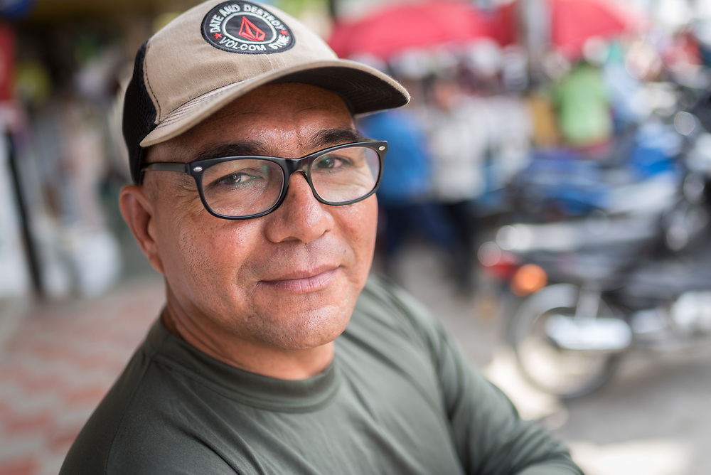 """17 November 2018, Dabeiba, Antioquia, Colombia: """"Harrison"""", the name by which he is known as a former commander in the Armed Revolutionary Forces of Colombia (FARC) is one of many ex-combatants currently trying to reconstruct their lives peacefully in Colombian civil society, following the 2016 peace treaty between the FARC Guerilla and the Colombian government. Challenges remain, however, as armed groups remain active in northwest Colombia, a strategically important corridor for trade into Central America, and ex-combatants face both stigma, threats of assassination, and suffer from a lack of fulfilment by the government on transfering ownership of lands to former guerilla combatants, which leads both to vulnerability and instability for life in the countryside. The Evangelical Lutheran Church of Colombia accompanies communities of ex-combatants, as well as the communities into which they are reintegrating, to help alleviate the risk of re-victimization or relapse into violent conflict."""