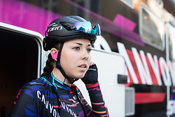 Lisa Klein (GER) of CANYON//SRAM Racing prepares for the Amstel Gold Race - Ladies Edition - a 126.8 km road race, between Maastricht and Valkenburg on April 21, 2019, in Limburg, Netherlands. (Photo by Balint Hamvas/Velofocus.com)