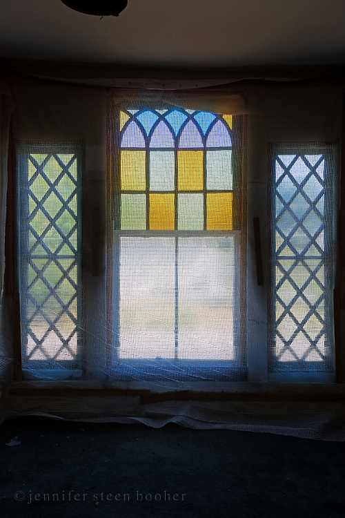 Window 6 on plan.<br /> Manset Union Church, Manset, Maine.