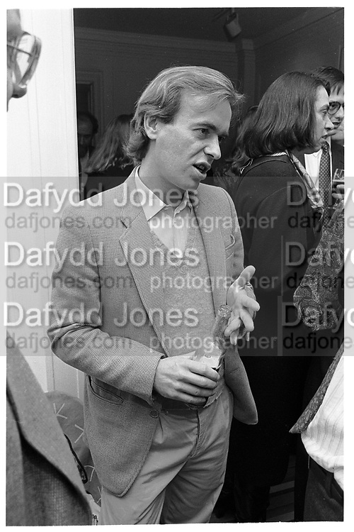 MARTIN AMIS. CROWN BOOK PARTY. MANHATTAN, 7 MARCH 1990.<br /> <br /> SUPPLIED FOR ONE-TIME USE ONLY> DO NOT ARCHIVE. © Copyright Photograph by Dafydd Jones 248 Clapham Rd.  London SW90PZ Tel 020 7820 0771 www.dafjones.com